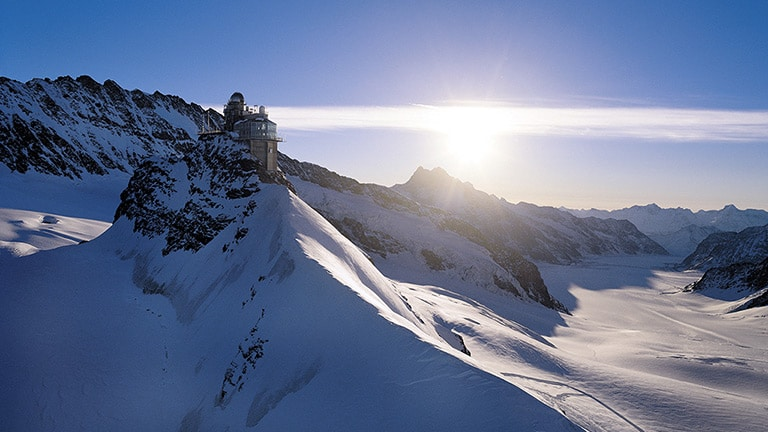 Jungfraujoch - Erlebnisplattform auf 3454 Meter über Meer